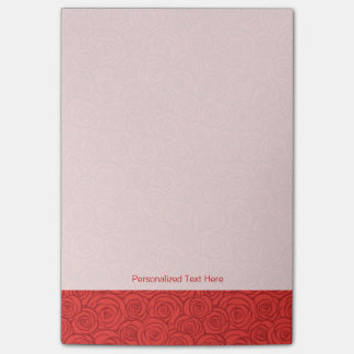 Abstract Red Roses Background Post-it Notes