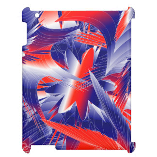 Abstract Red White and Blue Case For The iPad