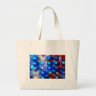 Abstract Red White and Blue Circles Tote Bags