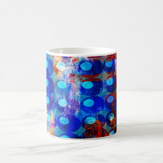Abstract Red White and Blue Circles Coffee Mug