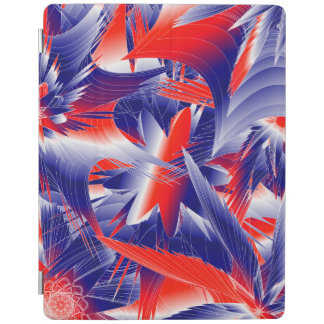 Abstract Red White and Blue iPad Cover