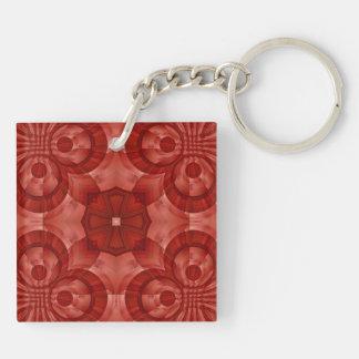 Abstract Red Wood Pattern Acrylic Key Chains