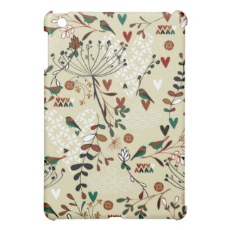 Abstract Retro Floral Collage iPad Mini Cover