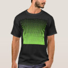 Abstract Retro Green and Black Halftone Background T-Shirt