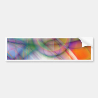 abstract retro pastell created by Tutti Bumper Sticker