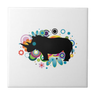 Abstract Rhino Ceramic Tile