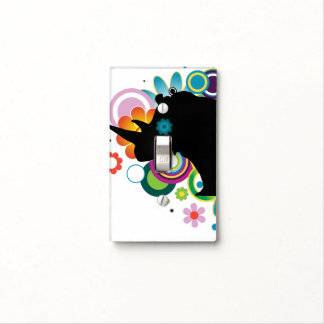 Abstract Rhino Light Switch Cover