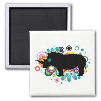 Abstract Rhino Magnet