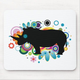 Abstract Rhino Mousepad