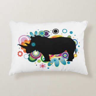 Abstract Rhino Pillow