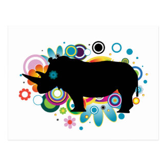 Abstract Rhino Postcard