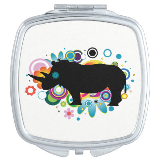 Abstract Rhino Square Compact Mirror