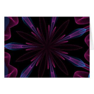 Abstract ribbon gem  card
