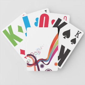 Abstract Ribbons Bicycle Playing Cards