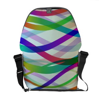 Abstract Ribbons of Colors Commuter Bag