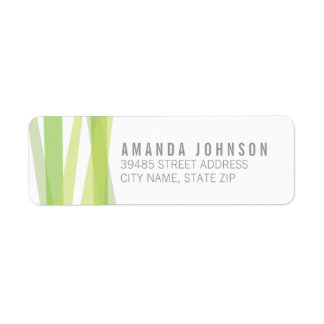 Abstract Ribbons Return Address Label - Green