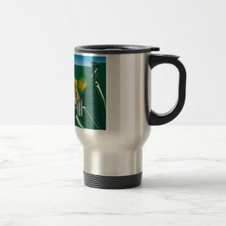 abstract Rio skyline Travel Mug