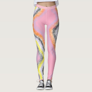 Abstract River Funky Leggings