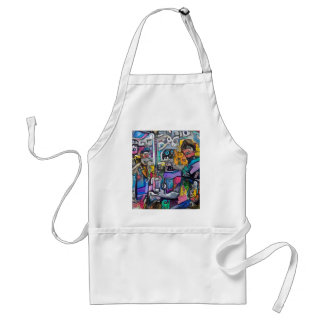 Abstract rock band standard apron