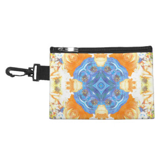 Abstract Romantic  Floral Pattern Accessory Bag
