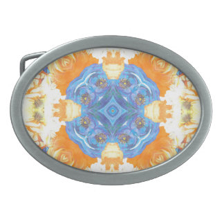 Abstract Romantic  Floral Pattern Belt Buckles