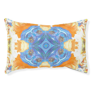 Abstract Romantic  Floral Pattern Pet Bed