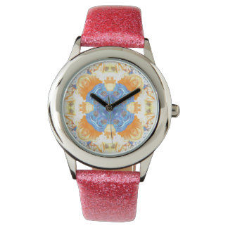 Abstract Romantic  Floral Pattern Watch