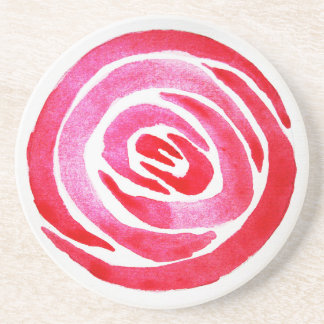 Abstract Rose Sandstone Coaster
