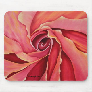 Abstract Rosebud Mouse Pad