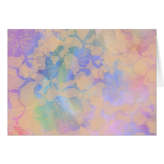 Abstract Roses In Pastel Colours Card