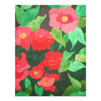 abstract roses custom invitation