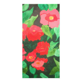 abstract roses photo greeting card