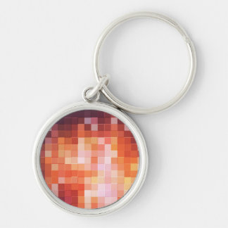 Abstract Round Keychain
