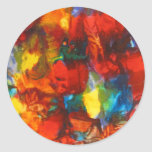 Abstract Round Stickers