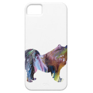 Abstract Samoyed silhouette iPhone 5 Case