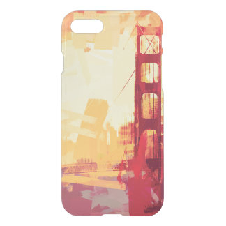 Abstract San Francisco Golden Gate Sunset iPhone 7 Case
