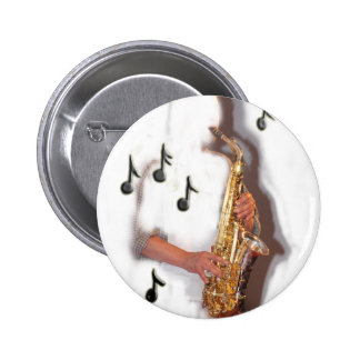 Abstract Saxophone player, music and instrument 2 Inch Round Button