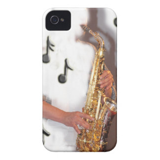 Abstract Saxophone player, music and instrument iPhone 4 Case-Mate Case
