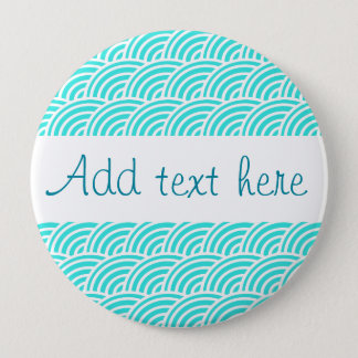 Abstract scales 4 inch round button