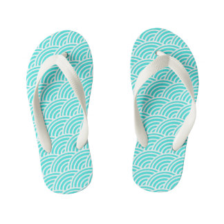 Abstract scales kid's flip flops