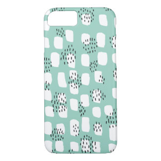 Abstract Scandinavian geometric mint pattern iPhone 8/7 Case