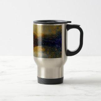 Abstract sci-fi alien worlds travel mug