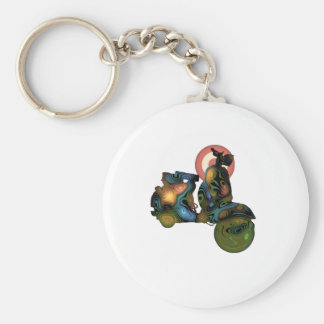abstract scooter 2 basic round button keychain