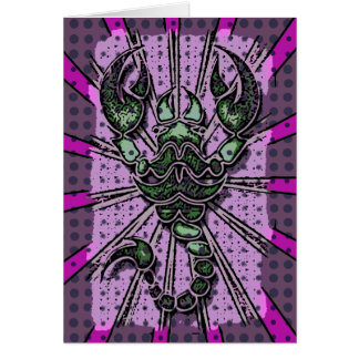Abstract Scorpion Card