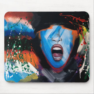 Abstract scream mouse pad
