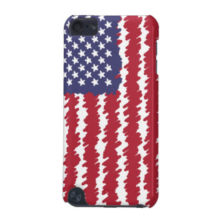Abstract Scribble USA Flag Pattern Ipod 5G Case
