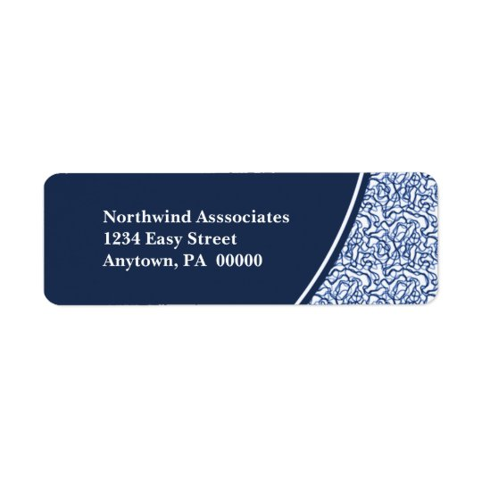 Abstract Scribbles Return Address Label