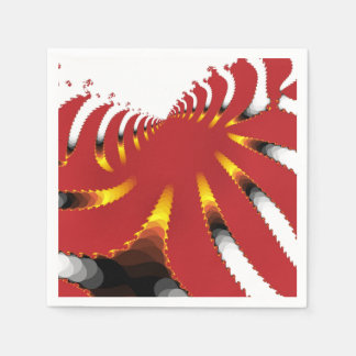 ABSTRACT SEA ANEMONE DISPOSABLE NAPKINS