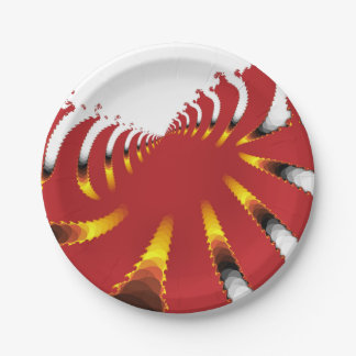 ABSTRACT SEA ANEMONE PAPER PLATE