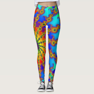 Abstract Sea of Life Bohemian Leggings